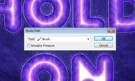 Purple Glow Text Effect step 6