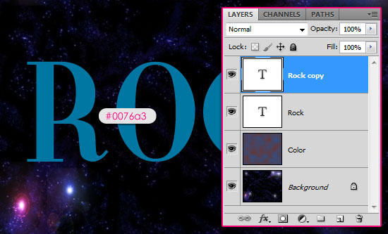 Retro Space Text Effect step 1