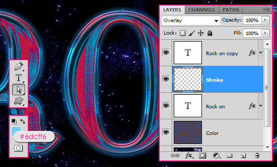Retro Space Text Effect step 4