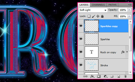 Retro Space Text Effect step 5