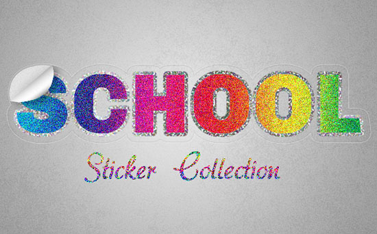 Retro Prism Sticker Text Effect
