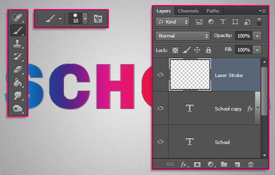 Retro Prism Sticker Text Effect step 3