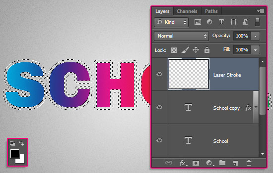 Retro Prism Sticker Text Effect step 4
