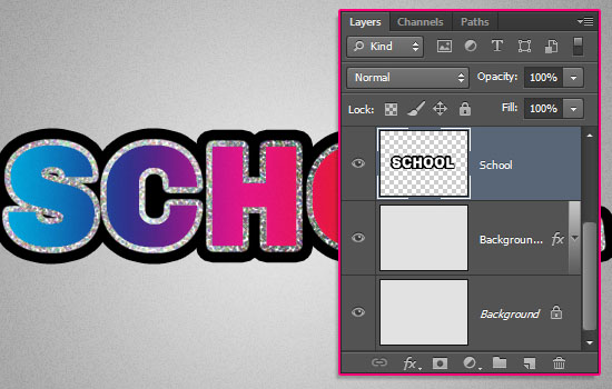 Retro Prism Sticker Text Effect step 5