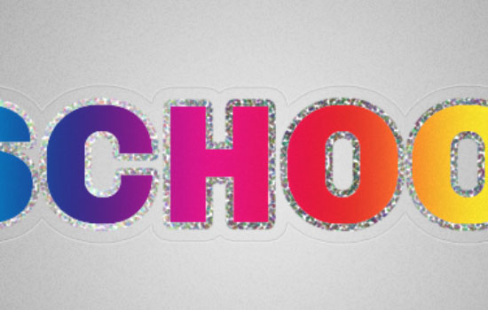 Retro Prism Sticker Text Effect step 7