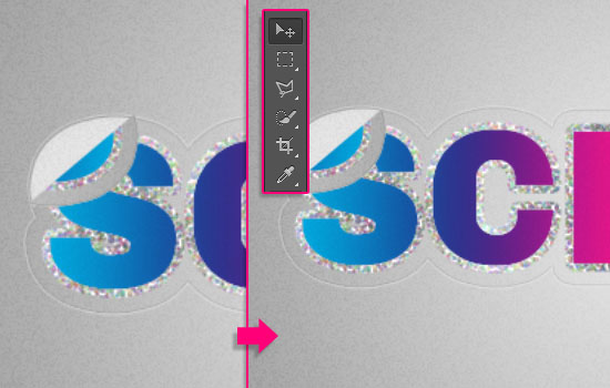 Retro Prism Sticker Text Effect step 8