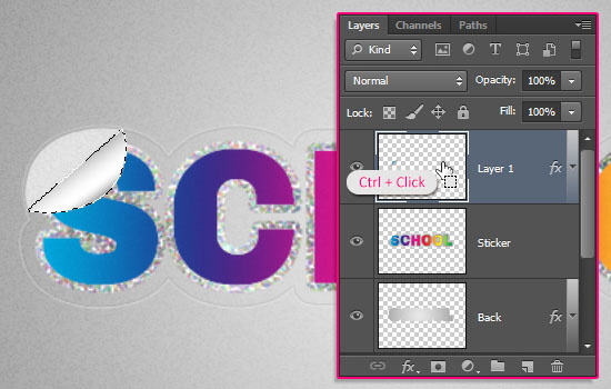 Retro Prism Sticker Text Effect step 9