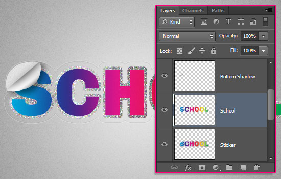 Retro Prism Sticker Text Effect step 10