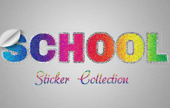 Retro Prism Sticker Text Effect step 11