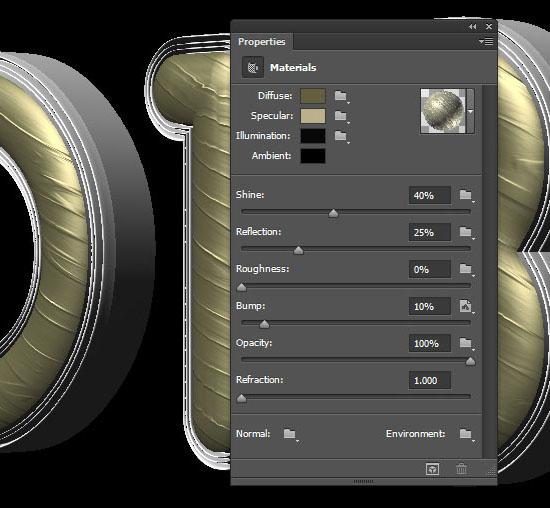 Royal 3D Text Effect: Photoshop Pleat Chair Font   Textuts