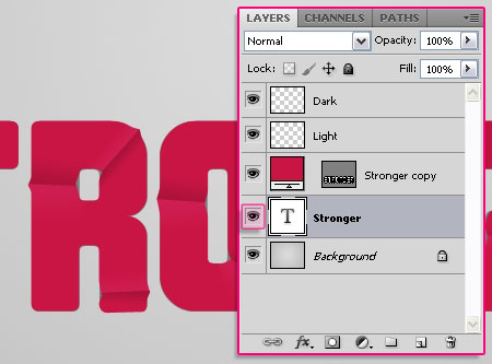 Sharp Fold Text Effect step 5