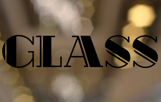 Shiny Glass Text Effect step 1