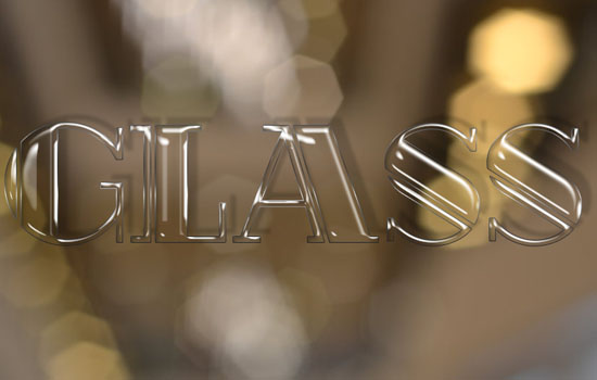 Shiny Glass Text Effect step 4