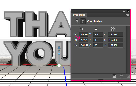 Simple Acrylic 3D Text Effect step 3