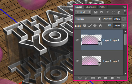 Simple Acrylic 3D Text Effect step 10