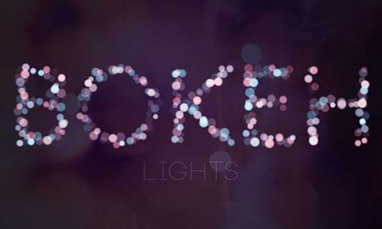 Simple Bokeh Text Effect