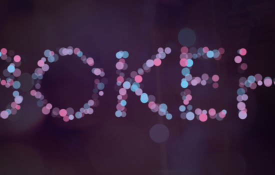 Simple Bokeh Text Effect step 3