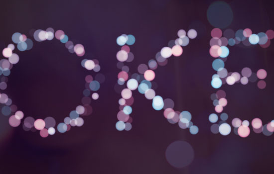 Simple Bokeh Text Effect step 4