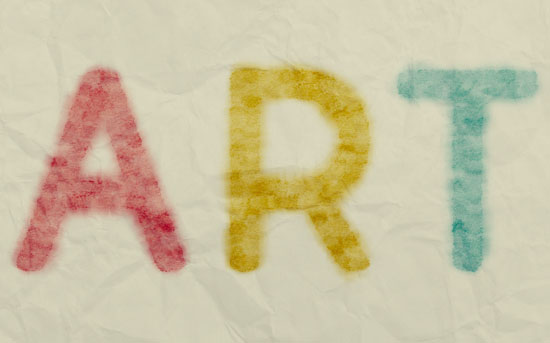 Smudged Watercolor Text Effect