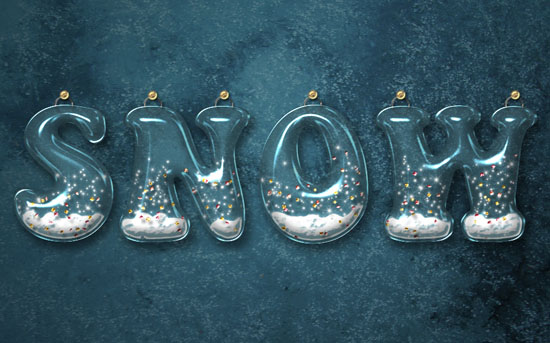 Snow Globe Text Effect