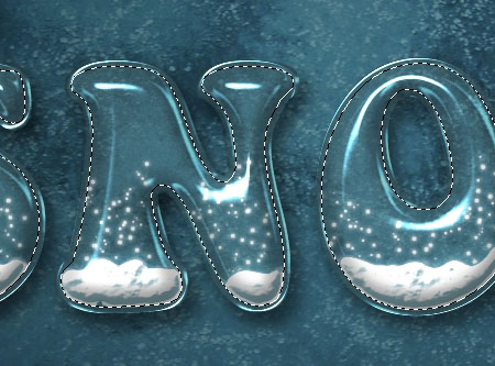 Snow Globe Text Effect step 5