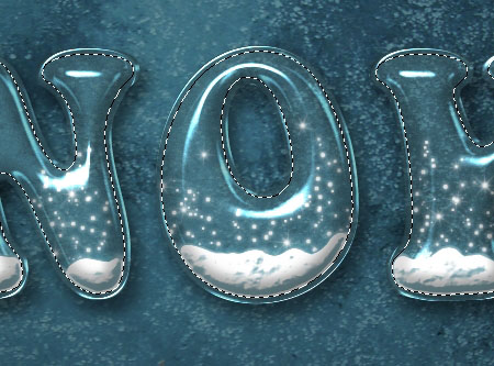 Snow Globe Text Effect step 6