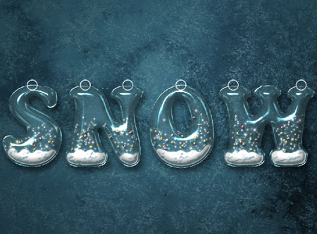Snow Globe Text Effect step 8