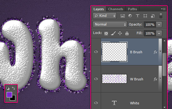 Snowy Festive Text Effect step 6
