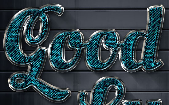 Sparkling Glass-Textured Text Effect