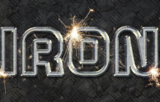 Sparkling Iron Text Effect step 11