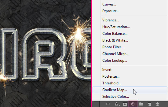 Sparkling Iron Text Effect step 12