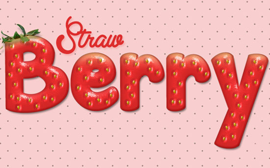 Strawberry Text Effect Strawberry Psd Font Textuts