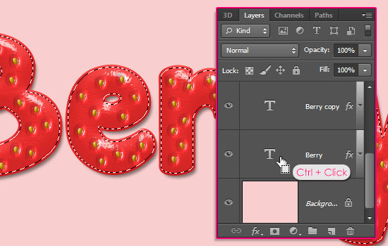 Strawberry Text Effect step 9