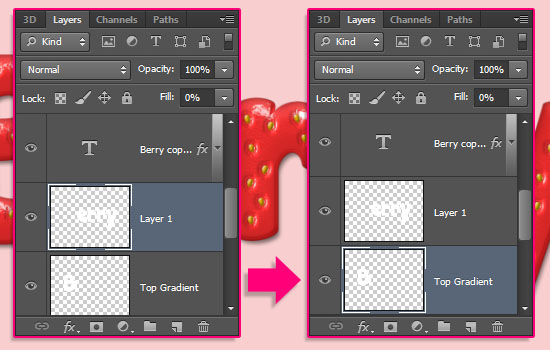 Strawberry Text Effect step 10