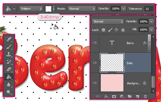 Strawberry Text Effect step 13