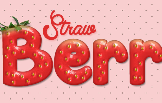 Strawberry Text Effect step 14
