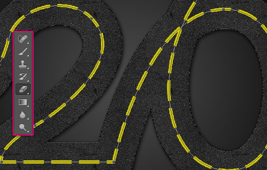 Striped Road Inspired Text Effect step 5