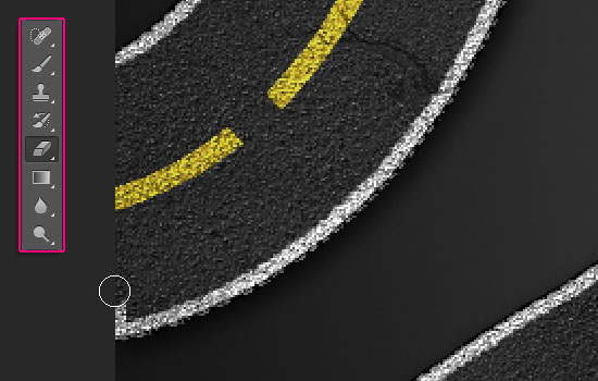 Striped Road Inspired Text Effect step 6