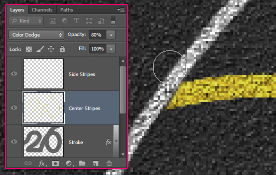 Striped Road Inspired Text Effect step 7