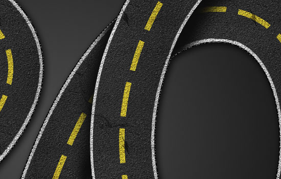 Striped Road Inspired Text Effect step 8