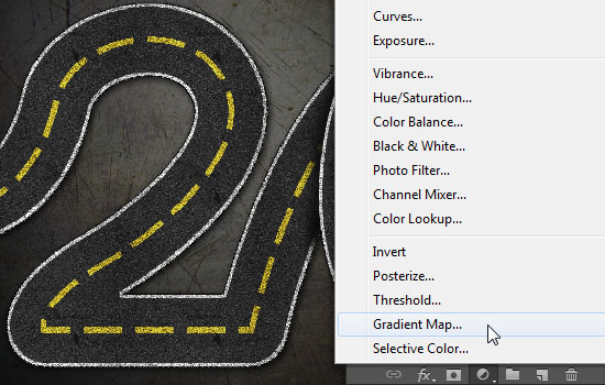 Striped Road Inspired Text Effect step 9