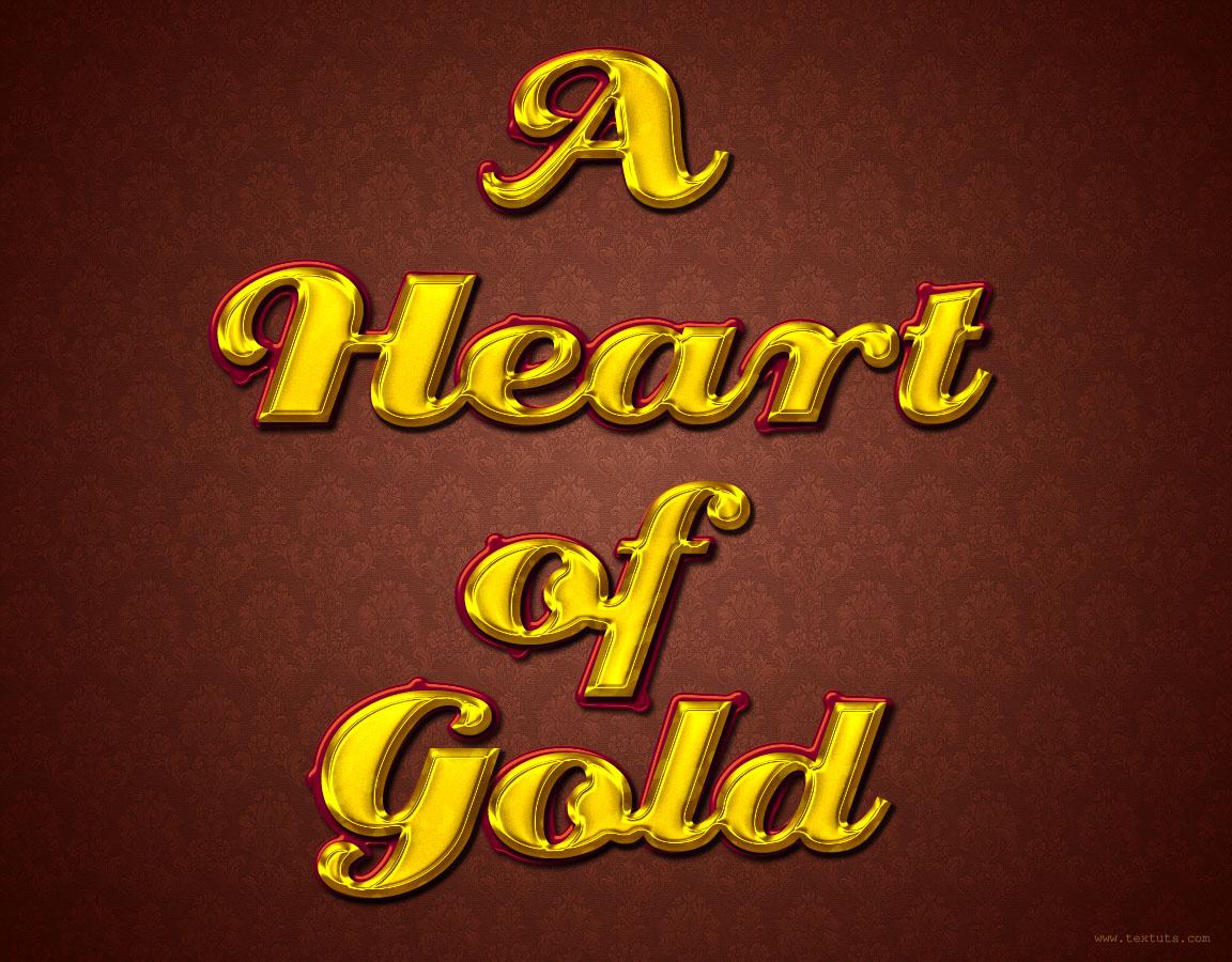Stylish Gold Text Effect: Golden PSD Font | Textuts