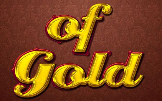 Stylish Gold Text Effect