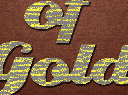 Stylish Gold Text Effect step 4