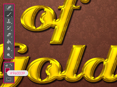Stylish Gold Text Effect step 5