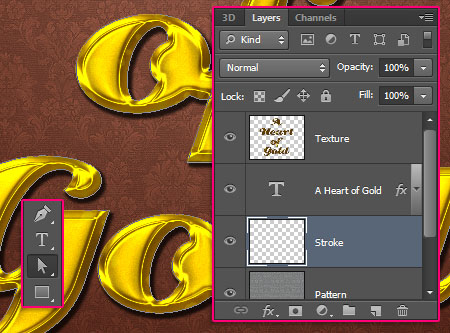 Stylish Gold Text Effect step 6