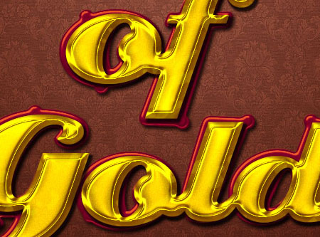 Stylish Gold Text Effect step 8