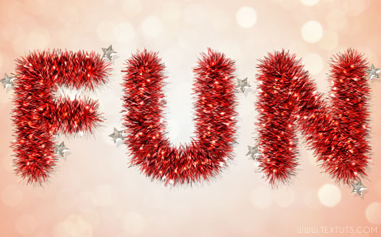 Tinsel Text Effect