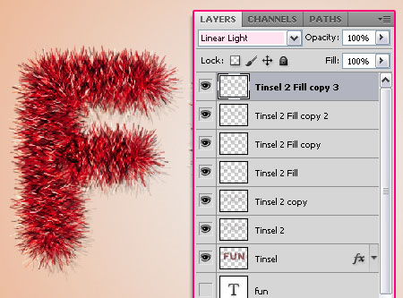 Bright Tinsel Text Effect step 5
