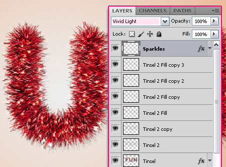 Bright Tinsel Text Effect step 6